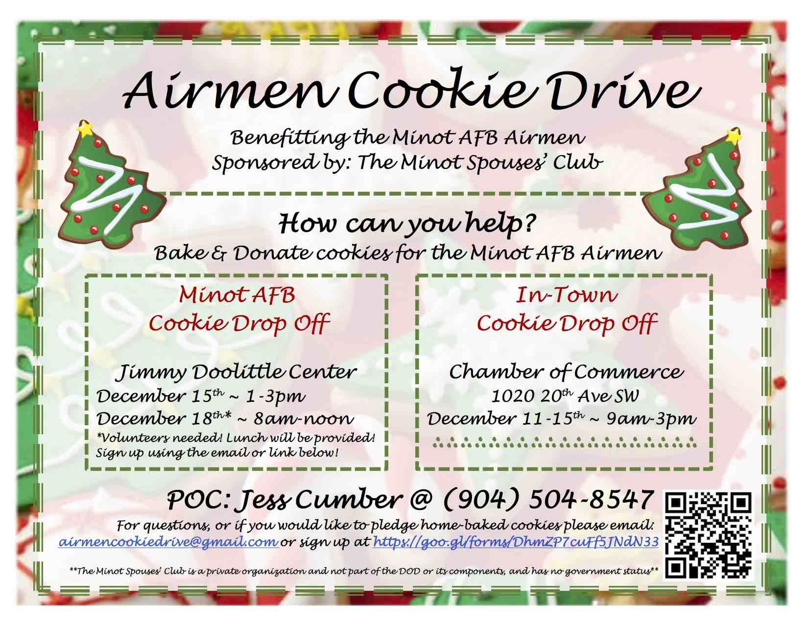 Airmen Cookie Drive Flyer | MSC